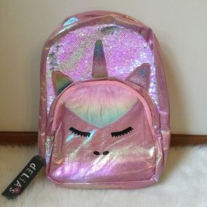 💗💕💝DELIA'S UNICORN 🦄 BACKPACK WITH FUR 🦄NWT💝